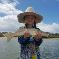 Ruby with a 45cm Whiting